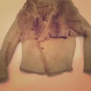 Paul and Joe rabbit fur and suede jacket size 38